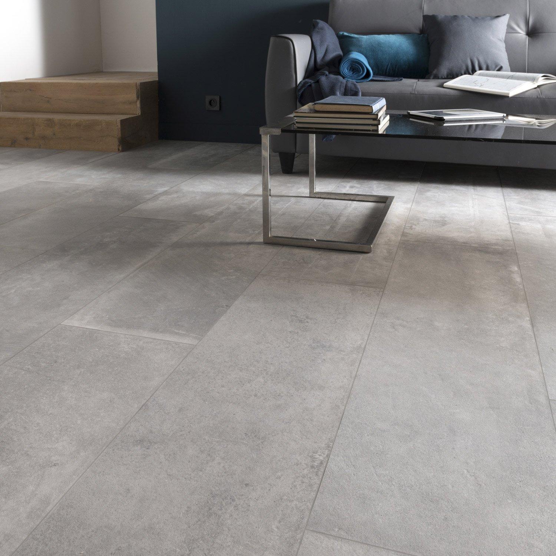 Carrelage sol et mur gris cendre effet béton Harlem l 30 x