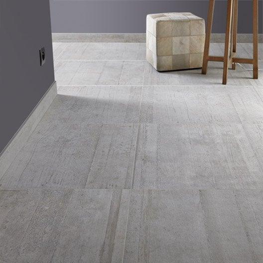 Carrelage sol et mur gris clair effet béton Industry l 60