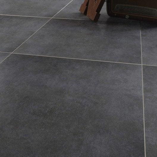 Carrelage sol et mur gris effet béton Factory l 75 x L 75