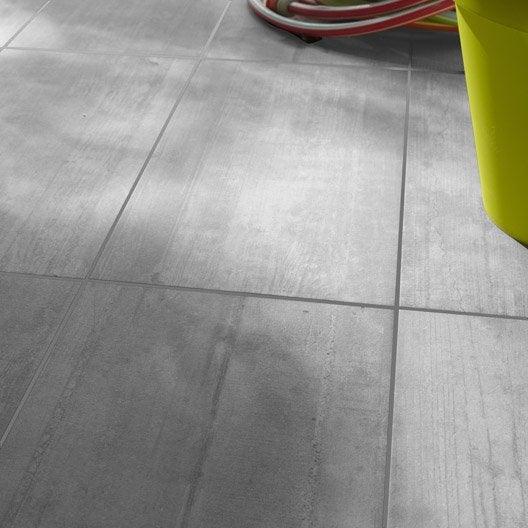 Carrelage sol gris clair effet béton Industry l 30 5 x L