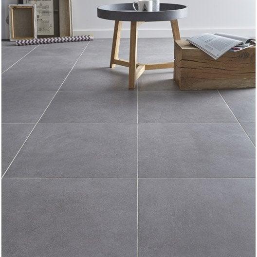 Carrelage sol gris effet béton Madison l 45 x L 45 cm