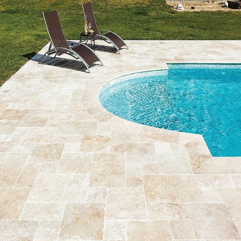 carrelage Bagnac en travertin 60 x 40 x 1 2 cm sol