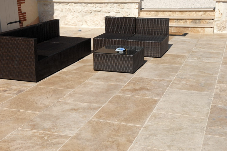 Carrelage en travertin 60 x 90 CM 1er choix light clair