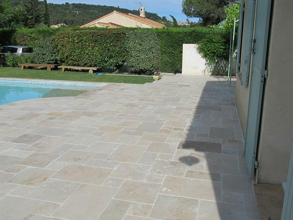 Carrelage En Travertin Dallage Petit Opus Travertin Beige Vieilli Light Mix Multi