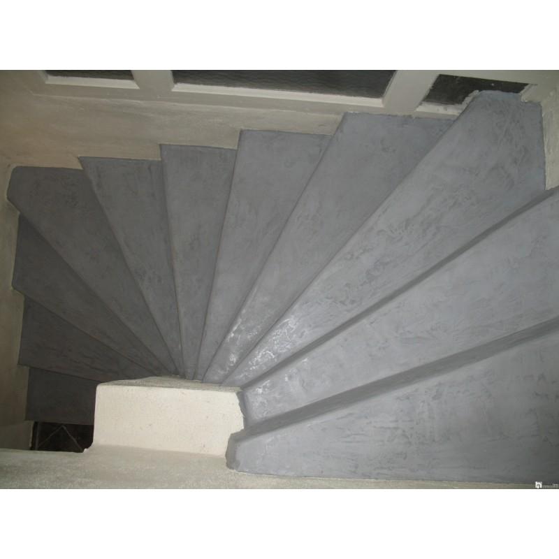 Beton ciré sur escalier kit pour carrelage