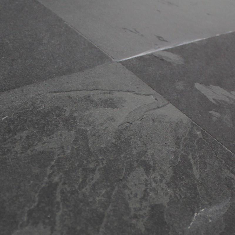 Carrelage ardoise naturelle noire Montauk 60x60 cm