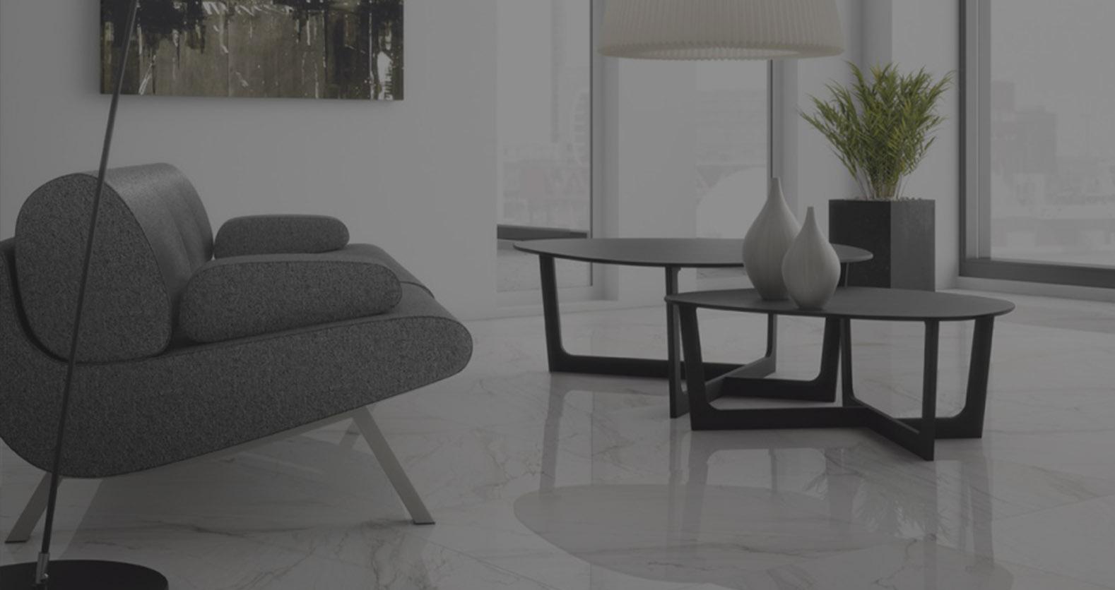 Carrelage marbre blanc grand format intérieur extérieur
