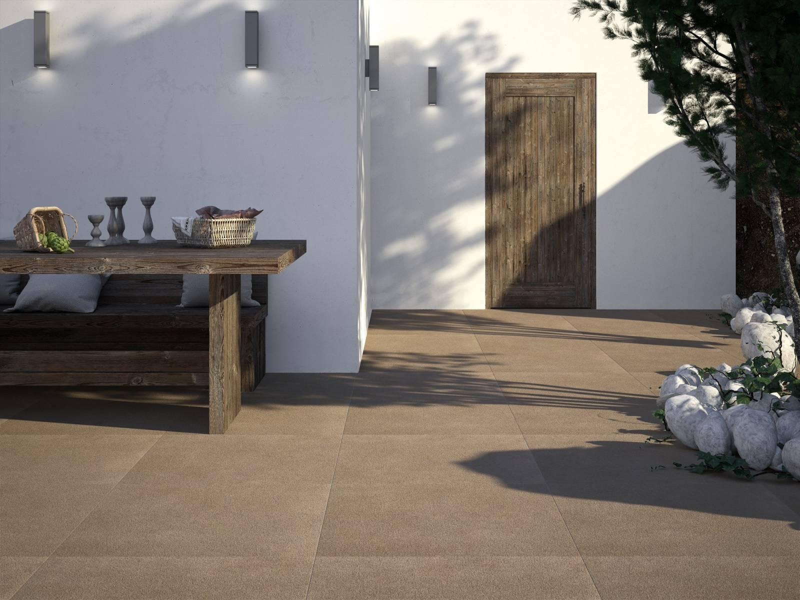 Choisir son carrelage grand format extérieur aspect pierre