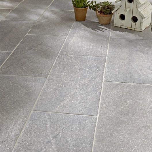 Carrelage extérieur Stone en grès cérame émaillé gris 21