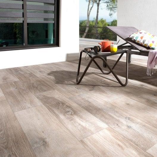 Carrelage sol brun clair effet bois Heritage l 20 x L 80