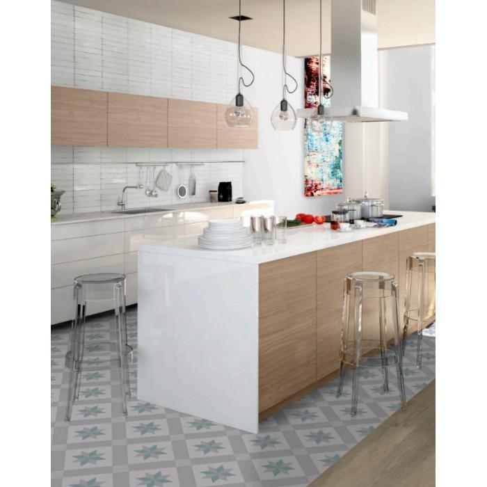 Carrelage grès cérame effet carreau ciment Barcelona Star