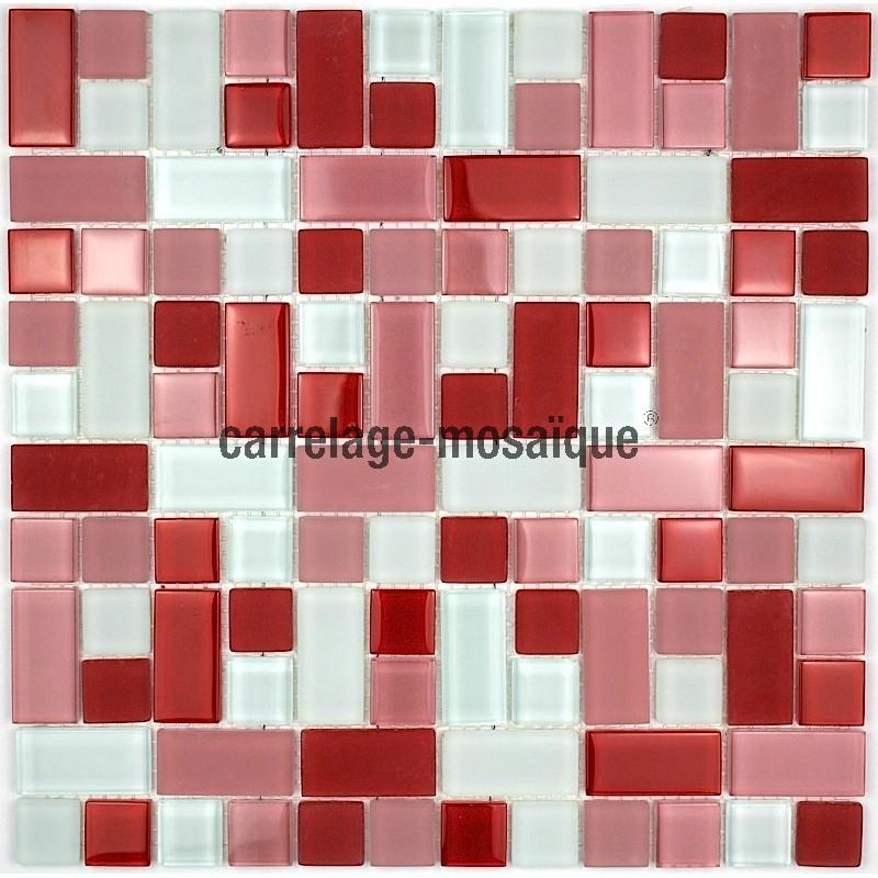 Carrelage Mosaique Pas Cher Mosaique Pas Cher En Verre 1m2 Modèle Cubicrouge