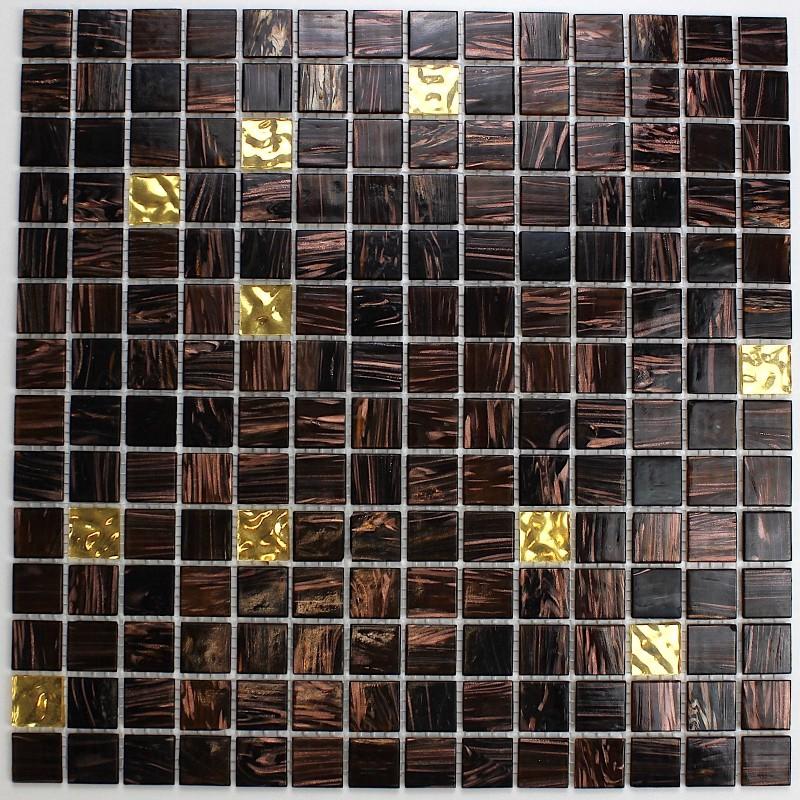 Mosaique carrelage pate de verre modele goldline vog