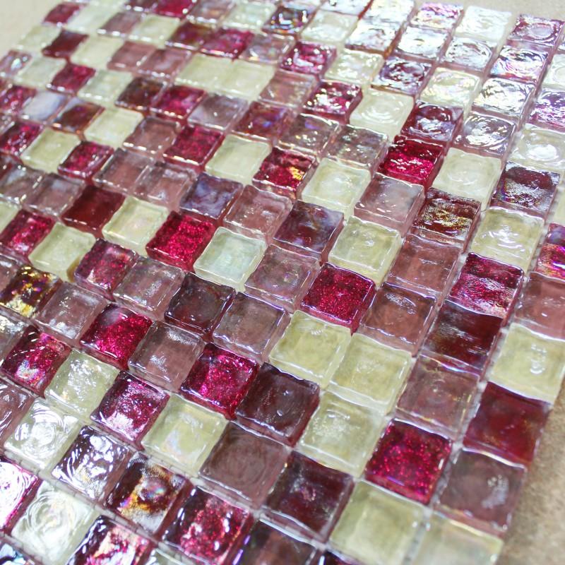 Mosaïque Cherry pâte de verre carrelage mosaique pas cher
