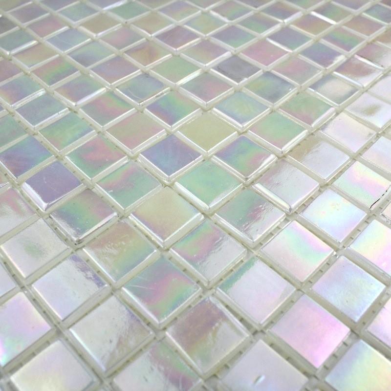 Pate de verre pas cher mosaique rainbow ice carrelage
