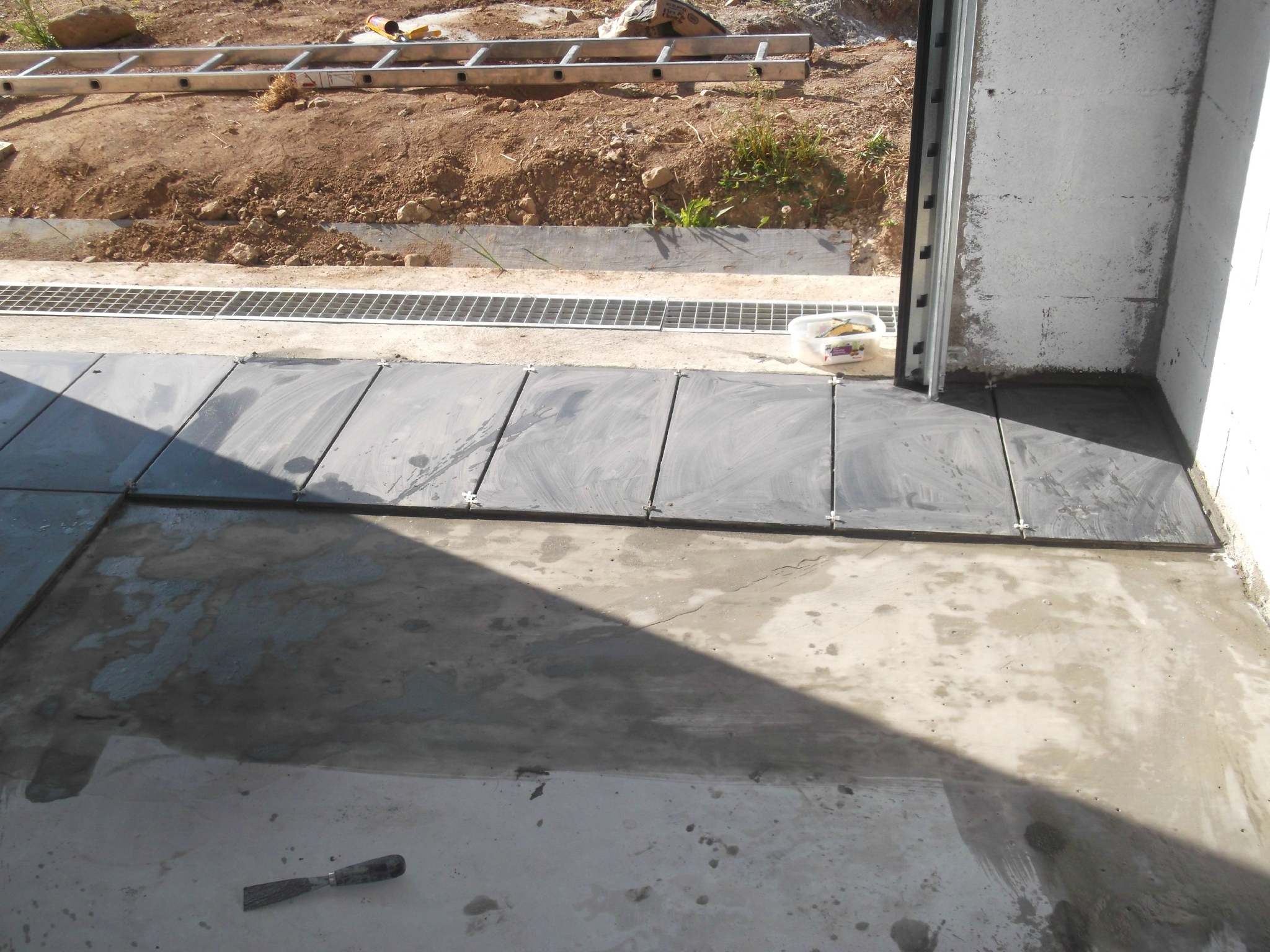 Carrelage du garage construction d une extension