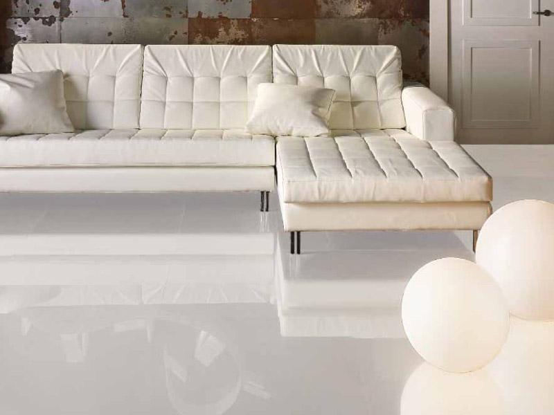 carrelage sol blanc brillant carrelage
