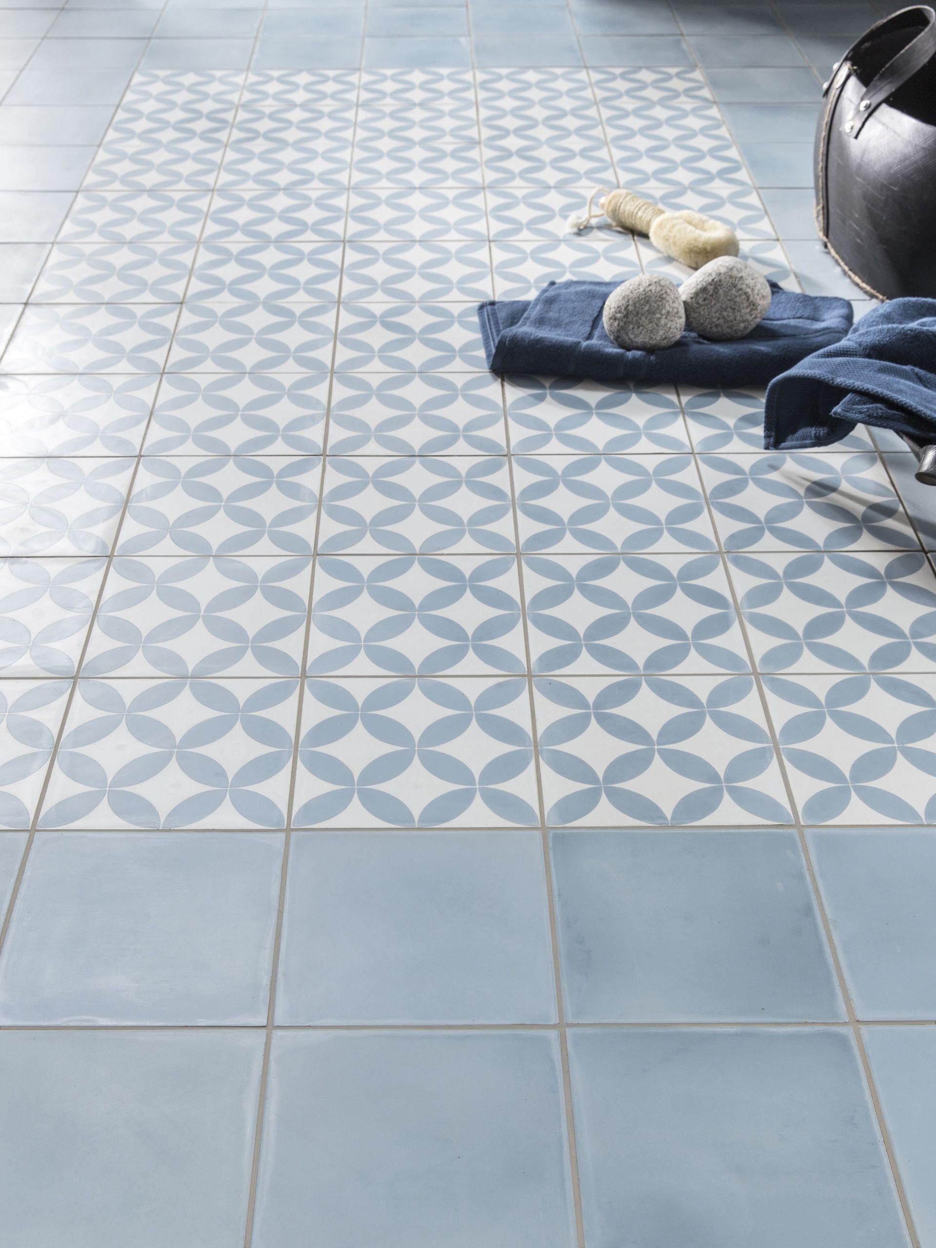 Carrelage Mural Imitation Carreau De Ciment carrelage sol bleu carreau de ciment sol et mur bleu et
