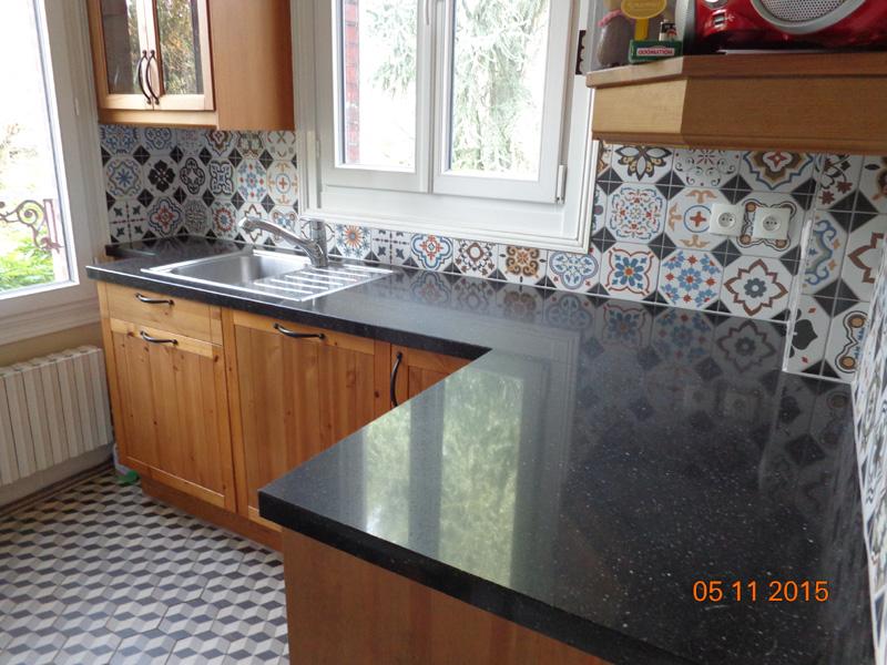 Cuisine installation meubles faïence évier Val d Oise 95