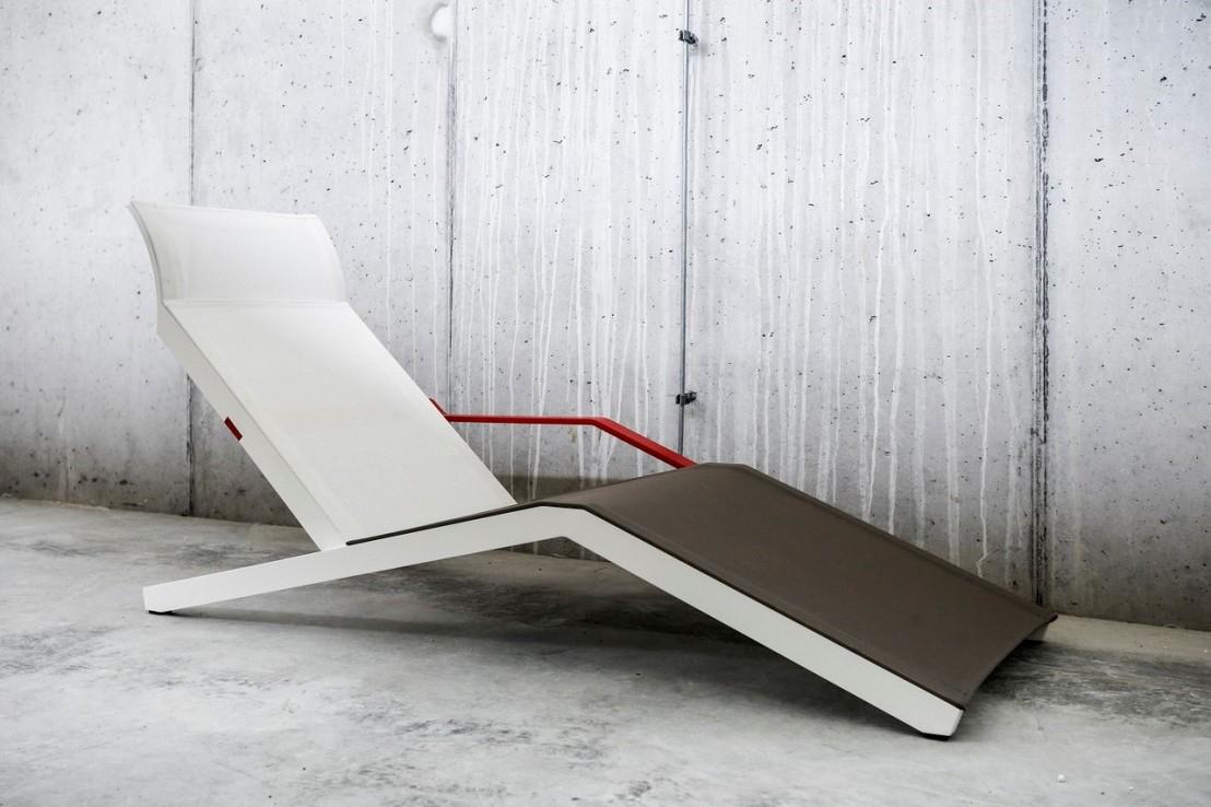 ALVA chaise longue design contemporain extérieur pour