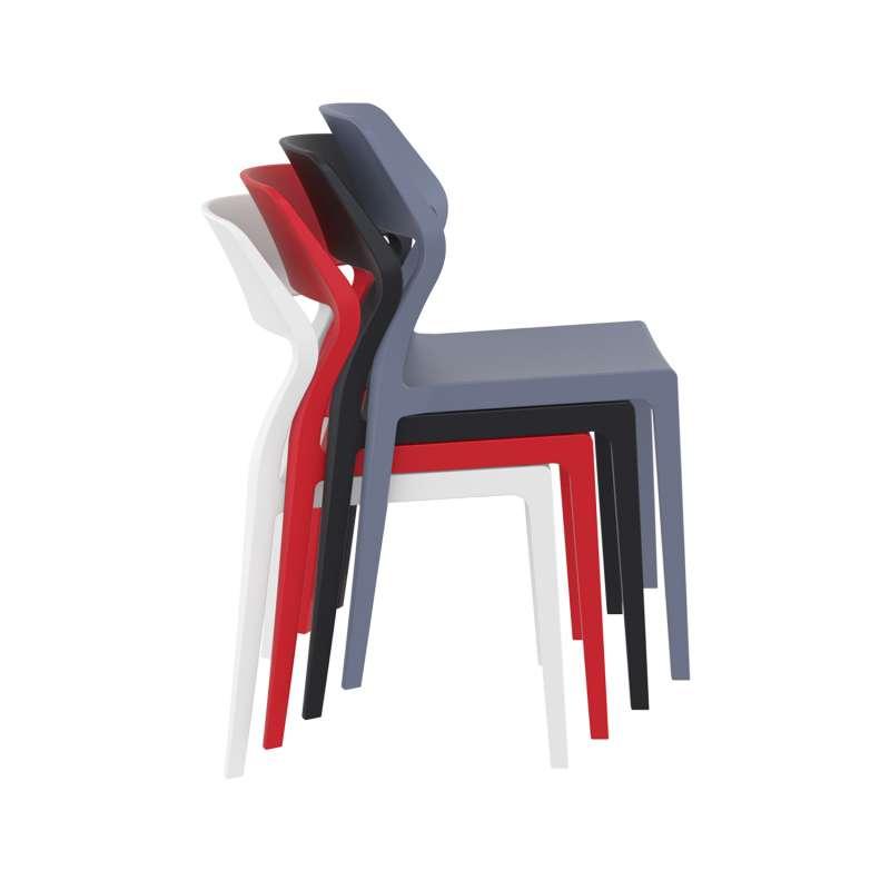 Chaise d extérieur empilable design en polypropylène