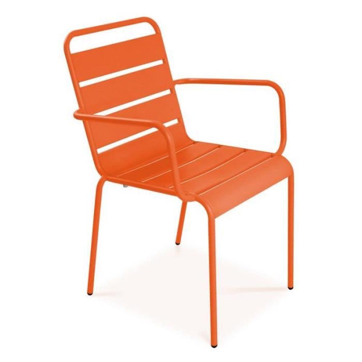 Chaise de jardin design Fauteuil extérieur en acier