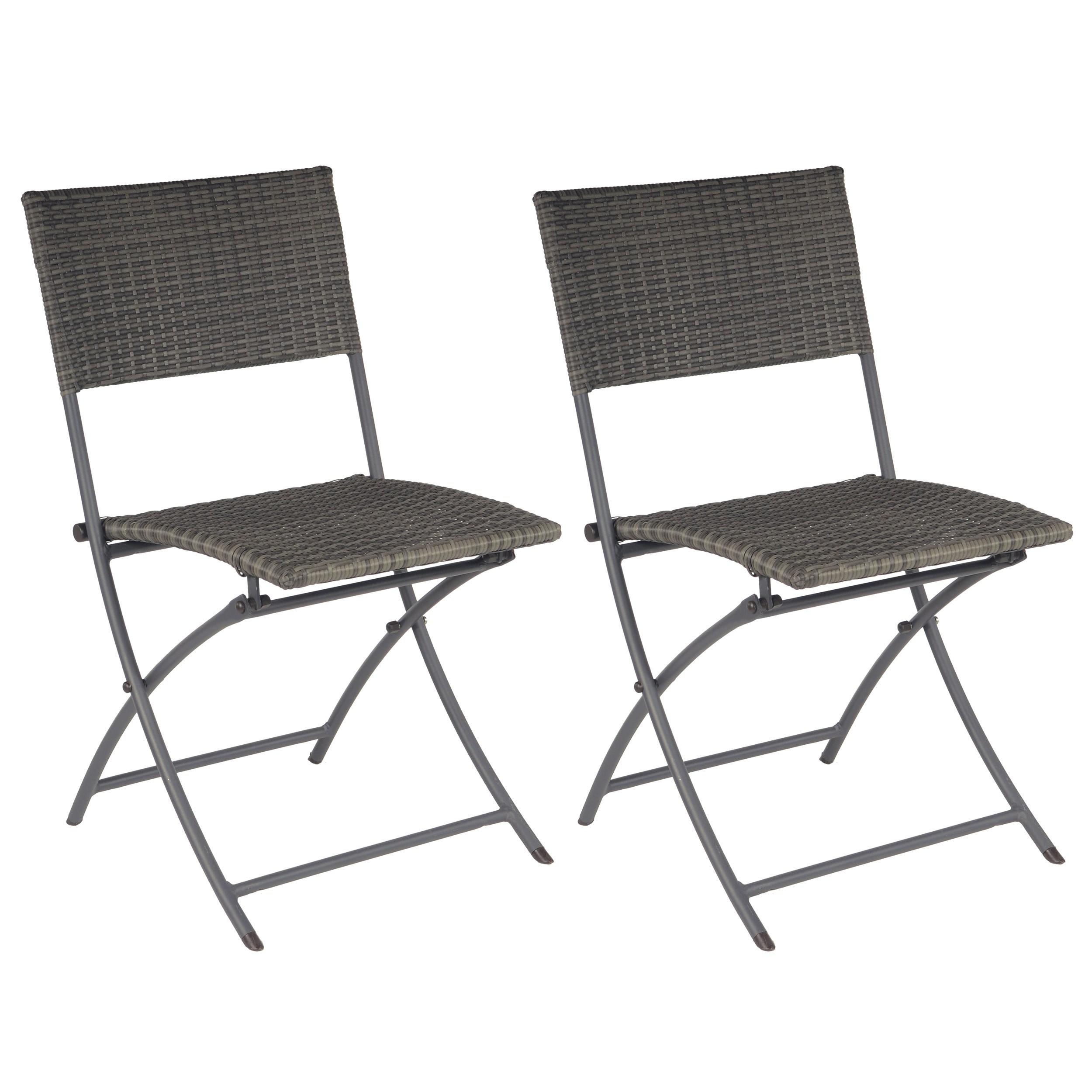 Chaise de jardin Zanzibar grise lot de 2 achetez nos