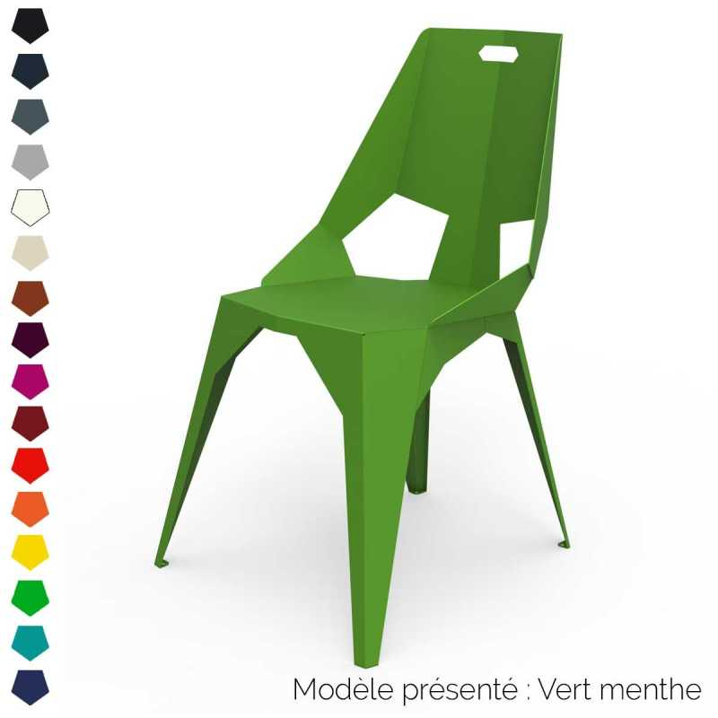 Chaise design en métal personnalisable intérieur et extérieur