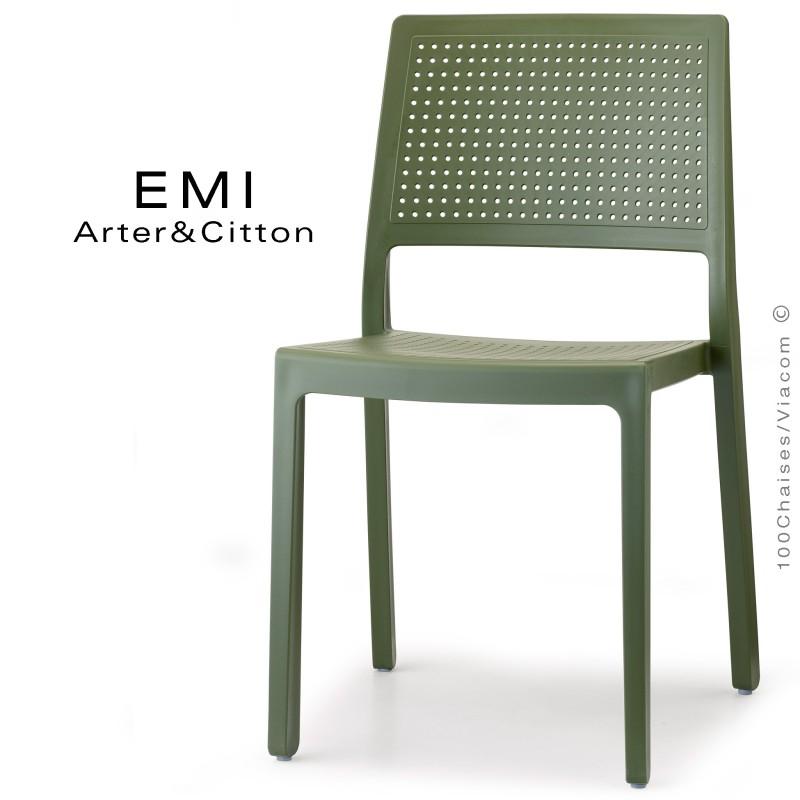 Chaise design PIÙ pour extérieur ou terrasse et jardin