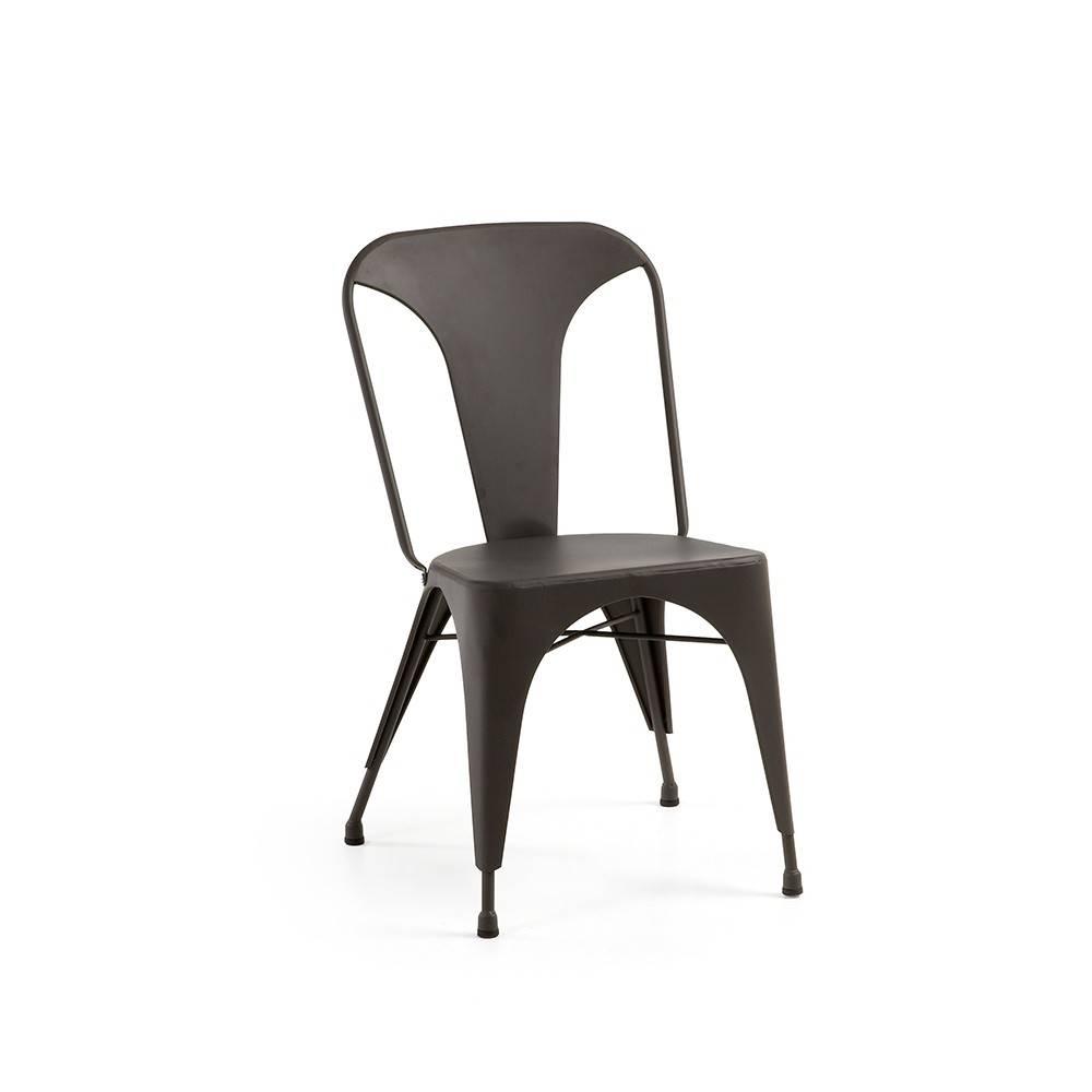 Chaise en acier empilable pour extérieur et jardin LEWIS
