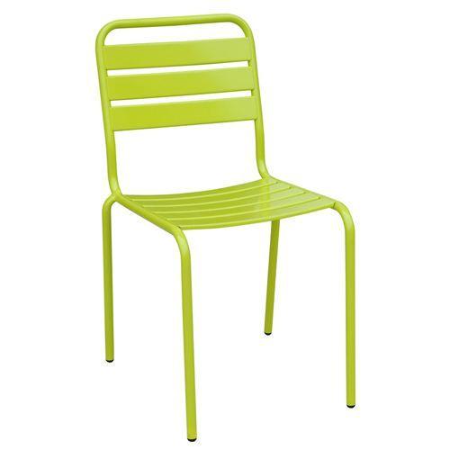 Chaise de jardin empilable Evora Metal Vert Achat