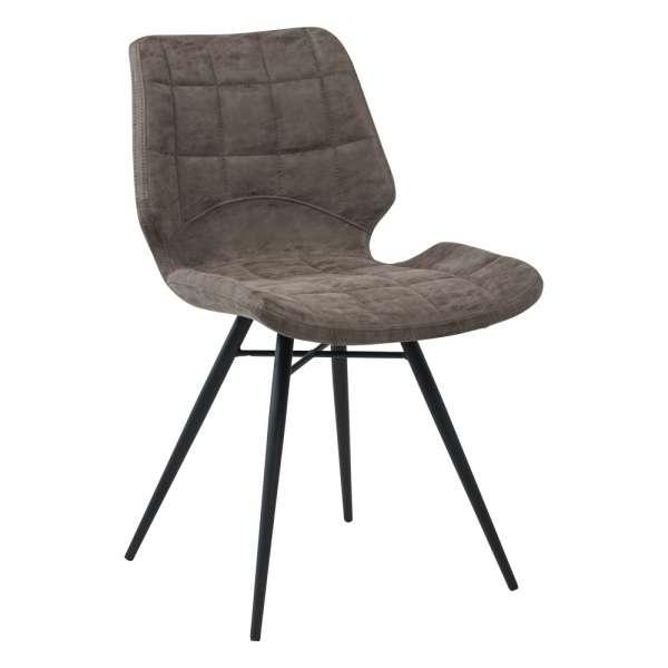 Chaise design rembourrée inspiration vintage avec pieds en