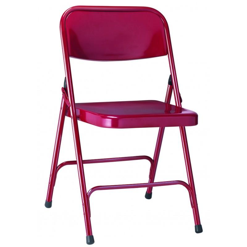 Chaise pliante en métal Gênes chaise métallique pliante