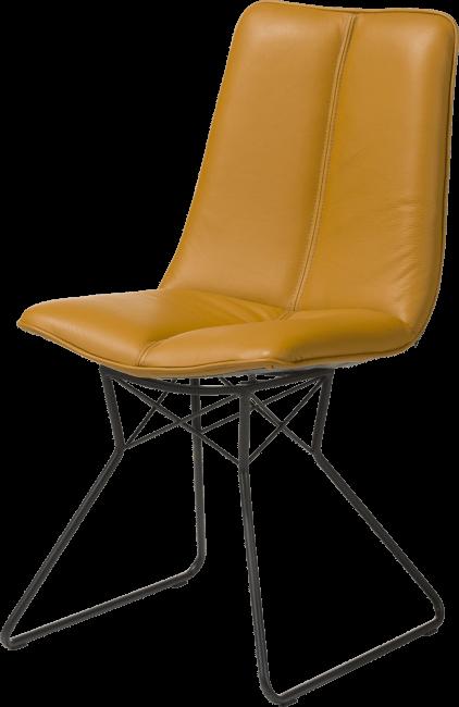 Lito chaise pied metal couleur off black pegasso