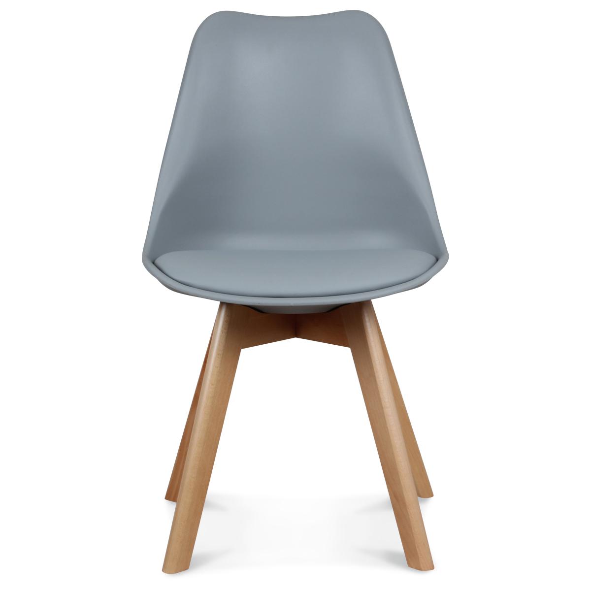 Chaise Design Grise Style Scandinave TOUNDRA Demeure et