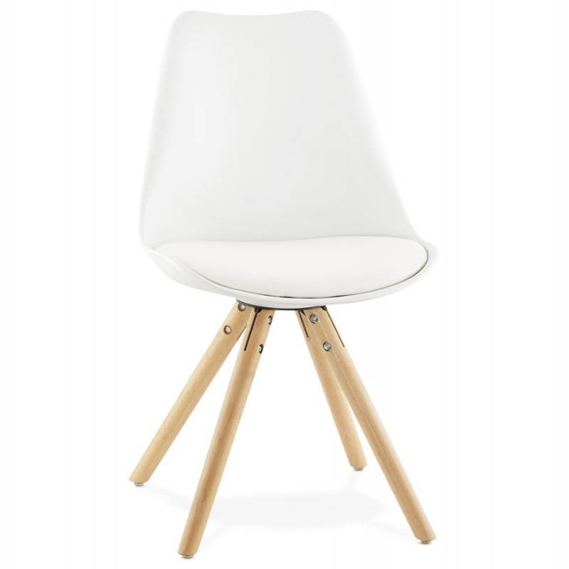 Chaise moderne style scandinave NORDICA blanc