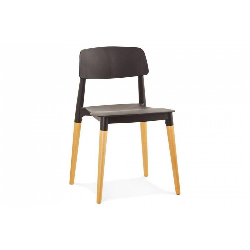LILA NOIR Chaise Design Style Scandinave Achat Vente
