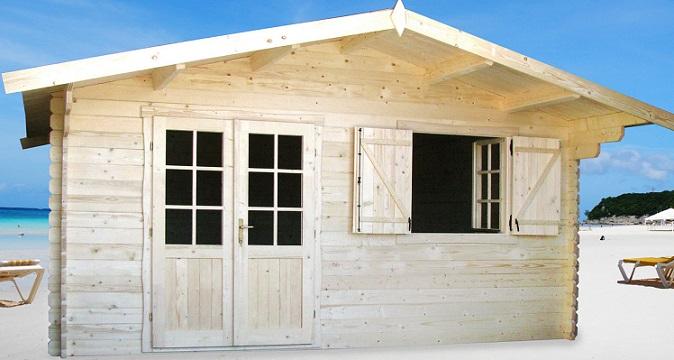 Abri de jardin Lyon 20m² chalet jardin en bois en kit