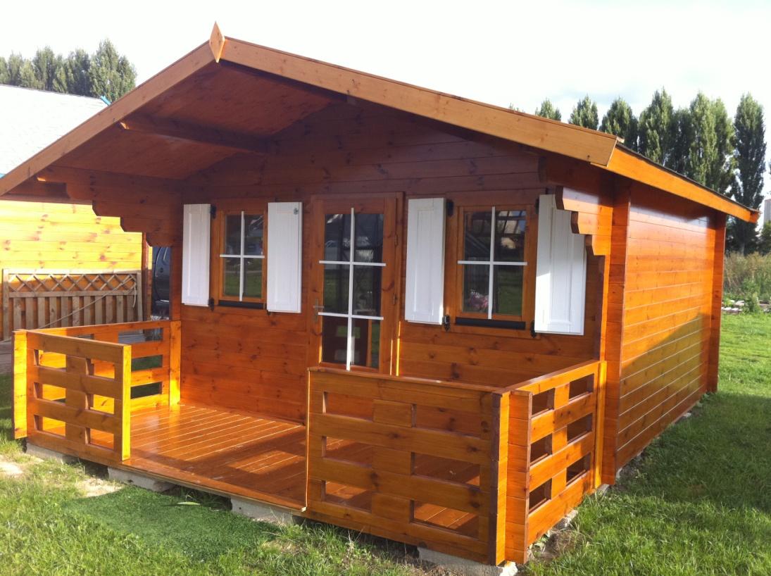 Chalets de jardin en bois massif 12 à 20m² Ep 35 44mm