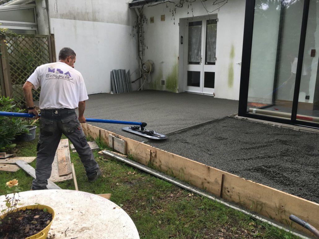 Natte Drainante Sous Carrelage Extérieur chape beton exterieur dalle artens carrelage extérieur 2 cm