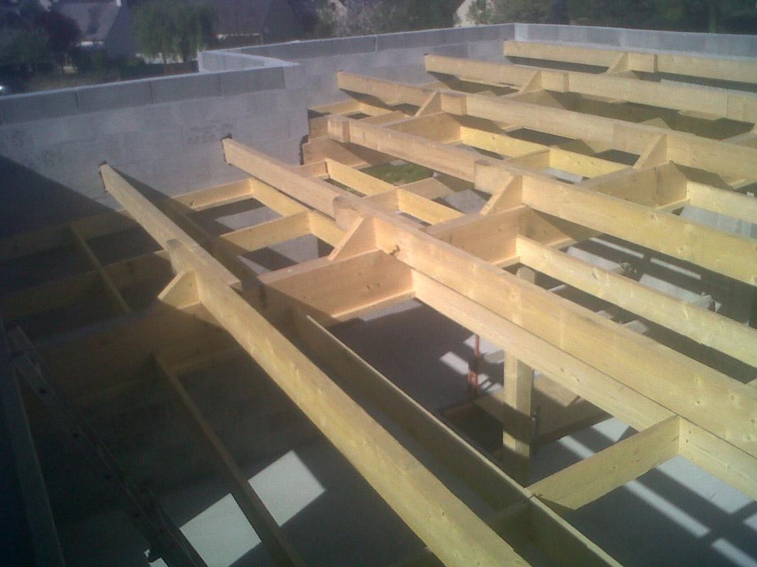 charpente d un toit plat
