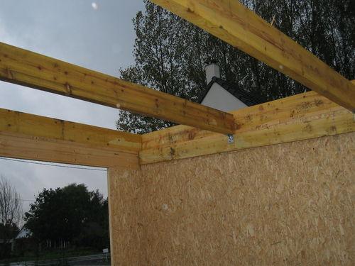 IMG 3307 de 13 Charpente du toit plat du garage