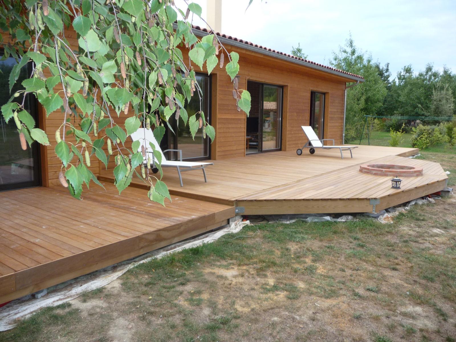 Construction d une terrasse en bois Pose des bandeaux de