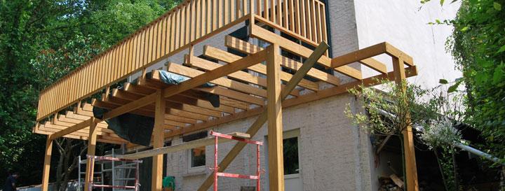 Comment Construire Une Terrasse En Bois Poser Une Terrasse En Bois Sur Pelouse