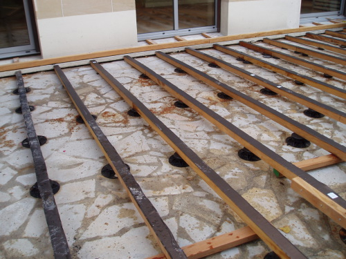 Terrasse en lamelles de bois