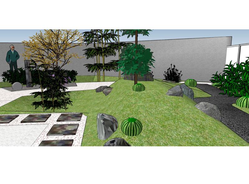 Conception de jardin Zen Jardinerie Bodiguel