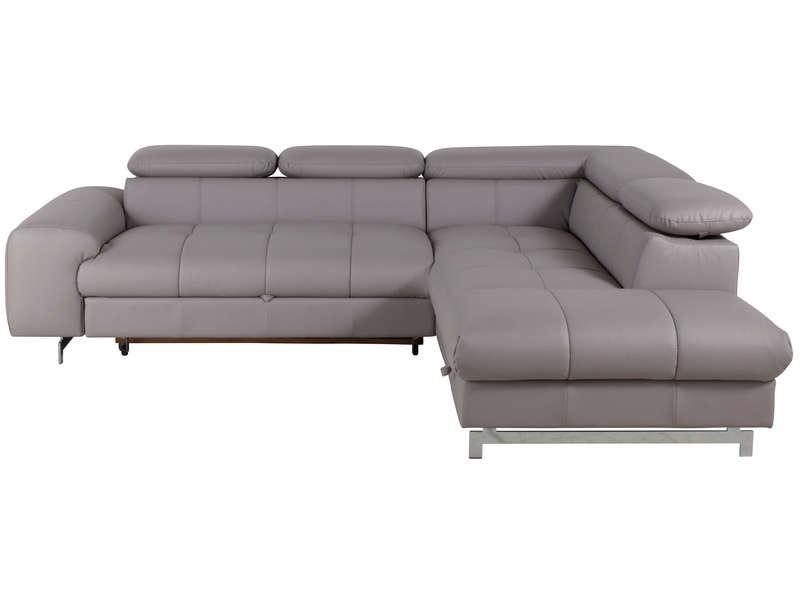 Canapé d angle droit convertible coffre IRINA coloris