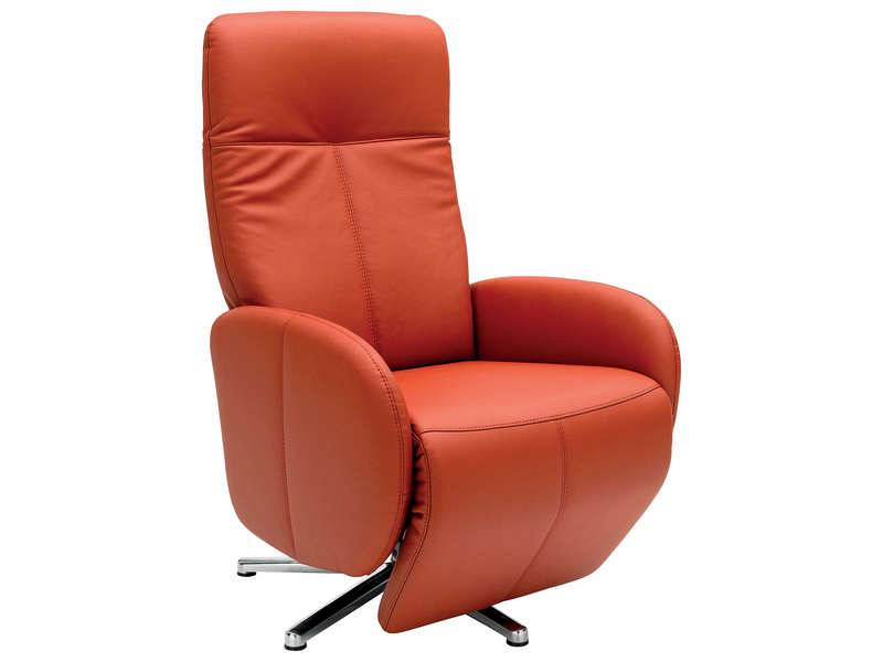 Conforama fauteuil relaxation yves coloris rouge Tous