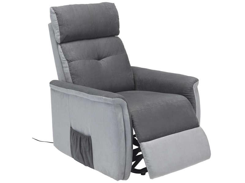 Fauteuil relax releveur electrique LUIGI coloris gris