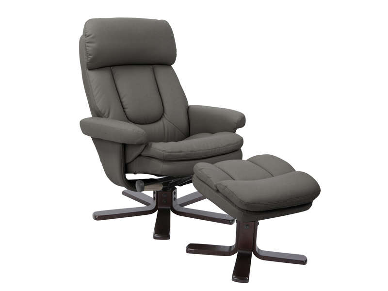 Fauteuil relaxation CHARLES coloris anthracite en PU